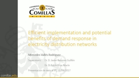 Miniatura para la entrada Presentación de tesis doctoral al IIT Mercedes Vallés 21/04/2017: Efficient Implementation and Potential Benefits of Demand Response in Electricity Distribution Networks