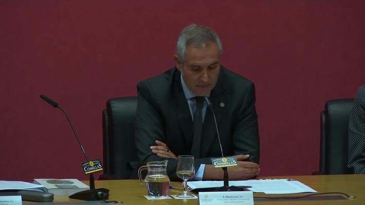 Toma de Posesión. Director del Instituto Universitario de Estudios sobre Migraciones. Dr. P. Alberto Ares Mateos, SJ