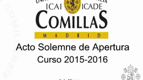 Miniatura para la entrada Acto Solemne de Apertura de Curso 2015/2016.