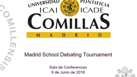 Miniatura para la entrada Madrid School Debating Tournament 2018