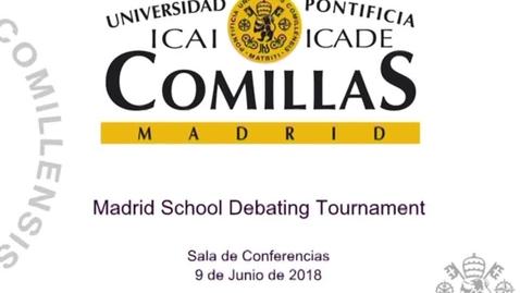 Miniatura para la entrada Madrid School Debating Tournament 2018