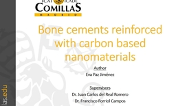 Miniatura para la entrada Presentación de tesis doctoral al IIT Eva Paz 06/04/2017: Bone Cement Reinforced with Carbon based Nanomaterials