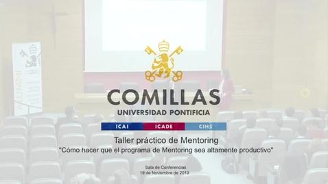 Miniatura para la entrada Taller practico de Mentoring 19-11-2019