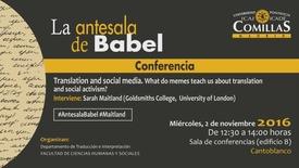 Miniatura para la entrada Antesala de Babel 2 nov 2016