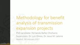 Miniatura para la entrada Presentación de tesis doctoral al IIT Fernando Bañez 28/02/2017: Methodology for Benefit Analysis of Transmission Expansion Projects