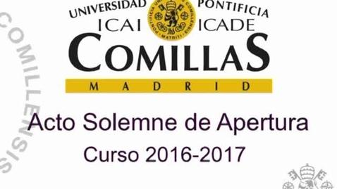 Miniatura para la entrada Acto Solemne de Apertura de Curso 2016/2017.