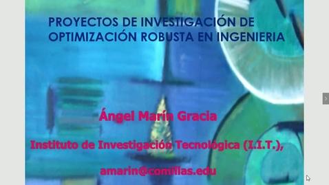 Miniatura para la entrada Seminario divulgativo Angel Marín 22/03/2018: Investigaciones en Optimización Aplicada