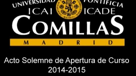 Miniatura para la entrada Acto Solemne de Apertura de Curso 2014/2015.
