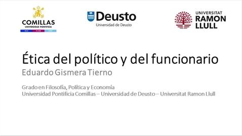Miniatura para la entrada Ética del político y del funcionario -  Eduardo Gismera