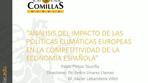 Miniatura para la entrada Presentación de tesis doctoral al IIT Pablo Pintos 21/04/2017:  Análisis del Impacto de las Políticas Climáticas Europeas en la Competitividad de la Economía Española