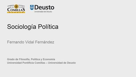 Fernando Vidal Fernández – Sociología Política