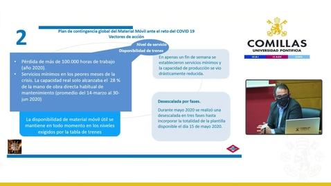 Miniatura para la entrada Master Class: Cómo Metro de Madrid aseguró la movilidad durante la crisis del Covid-19 y la tormenta Filomena.  26/02/2021
