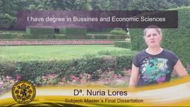 Miniatura para la entrada Dª. Nuria Lores.  Subject: Master´s Final Dissertation .  (Subtítulos Ingles)