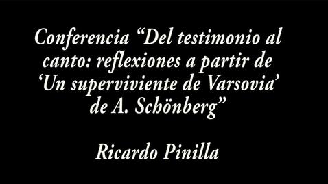 """Miniatura para la entrada """"Del testimonio al canto: reflexiones a partir de 'Un superviviente de Varsovia' de A. Schönberg"""" / Ricardo Pinilla"""