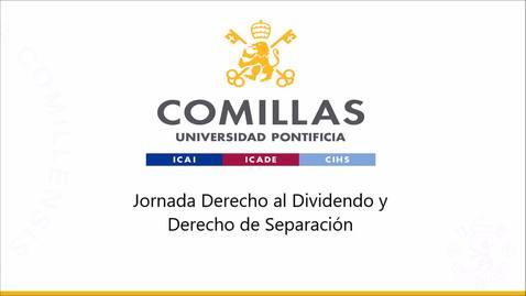 Miniatura para la entrada 21/10/2020 Jornada Derecho al Dividendo y Derecho de Separación