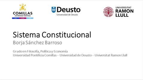 Miniatura para la entrada Sistema Constitucional - Borja Sánchez