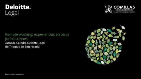 """Miniatura para la entrada Cátedra Deloitte. """"Retribución en especie: potenciales implicaciones derivadas del teletrabajo"""". 21/10/2020"""