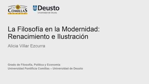 Alicia Villar Ezcurra – La Filosofía en la Modernidad: Renacimiento e Ilustración
