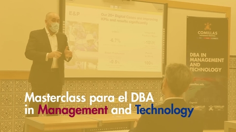 Miniatura para la entrada DBA Masterclass: Repsol y la digitalización del sector energético
