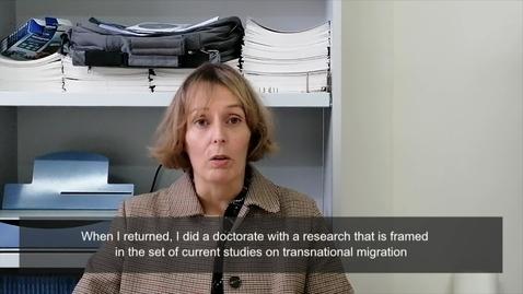 Miniatura para la entrada D.ª Andrea Ruiz Balzola. Subject: Psychosocial approach to international migrations