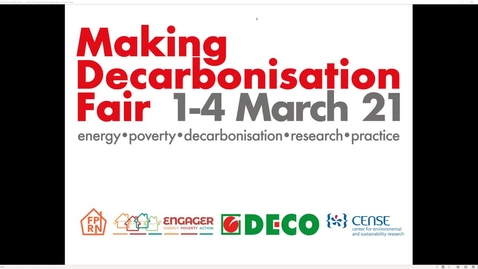 Miniatura para la entrada Making Decarbonisation Fair - 1-4 March 2021