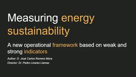 Miniatura para la entrada Presentación de tesis doctoral al IIT Jose Carlos Romero 22/02/2019: Measuring energy sustainability. A new operational framework based on weak and strong indicators