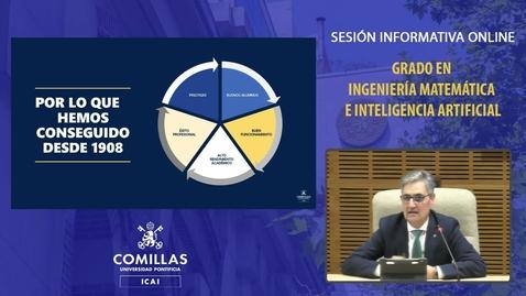 Miniatura para la entrada Sesión informativa online. Grado en Ingeniería Matemática e Inteligencia Artificial.  5/02/2021