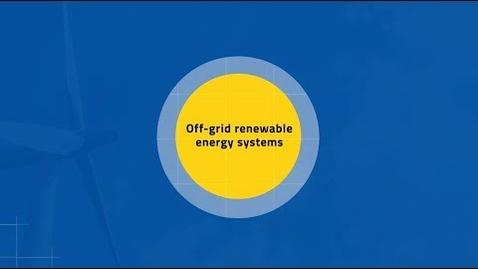 Miniatura para la entrada Teaser - Off-grid Renewable Energy systems MOOC1/MOOC2