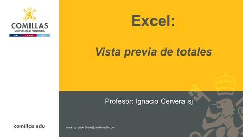 Miniatura para la entrada Excel-1-Vista Previa  de Totales