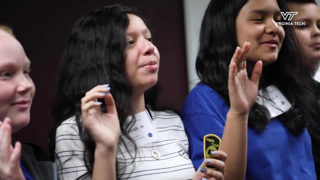 Fifth-graders visit Virginia Tech Police Department as part of Kindergarten to College program