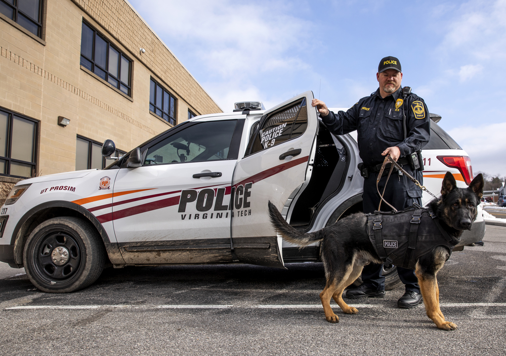 Zuka becomes the Virginia Tech Police Department's newest K-9