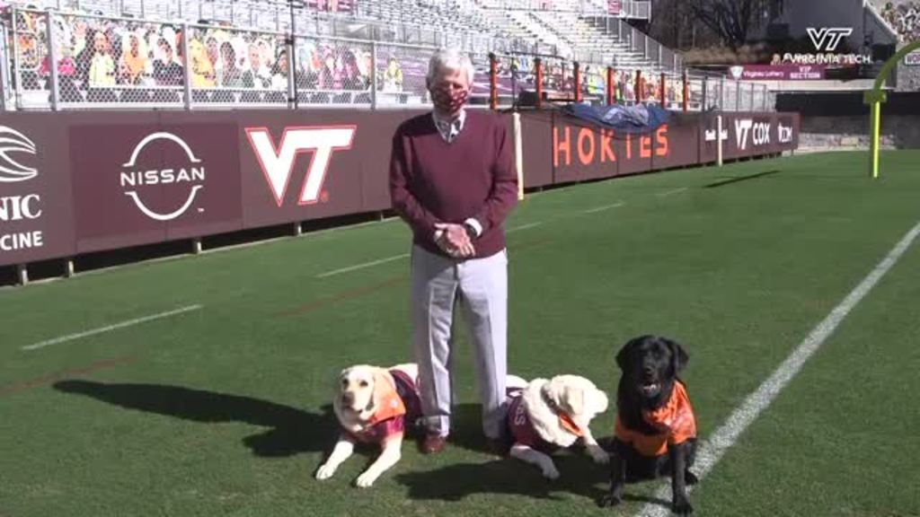 Frank Beamer and the Virginia Tech Therapy Dogs Have a Message for You