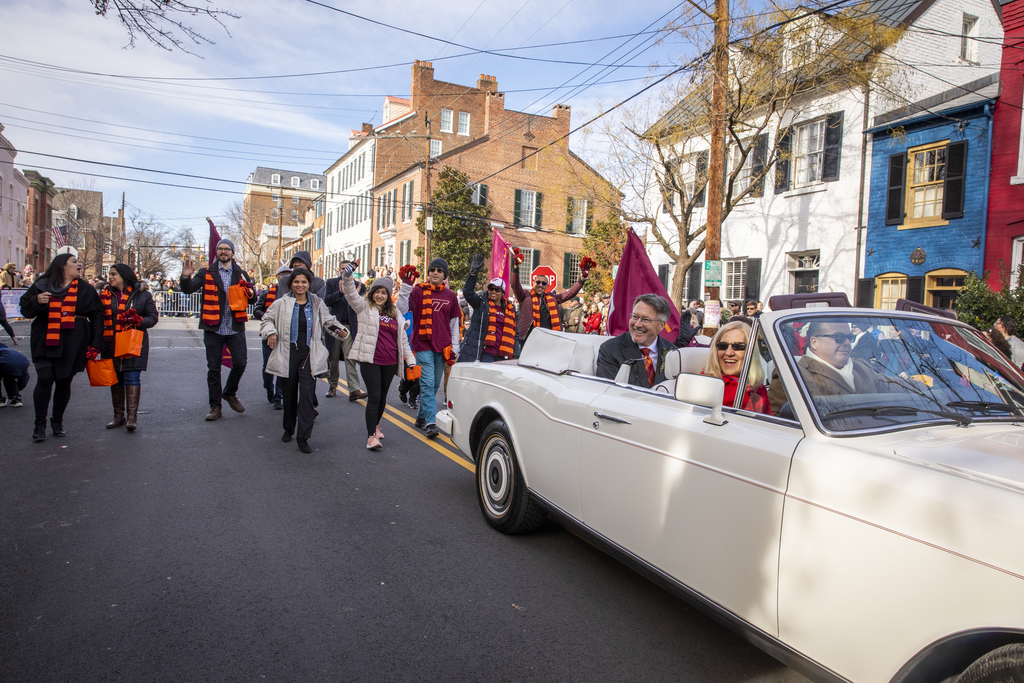 President Sands 'Grand Marshal' of Scottish Walk Parade in Alexandria