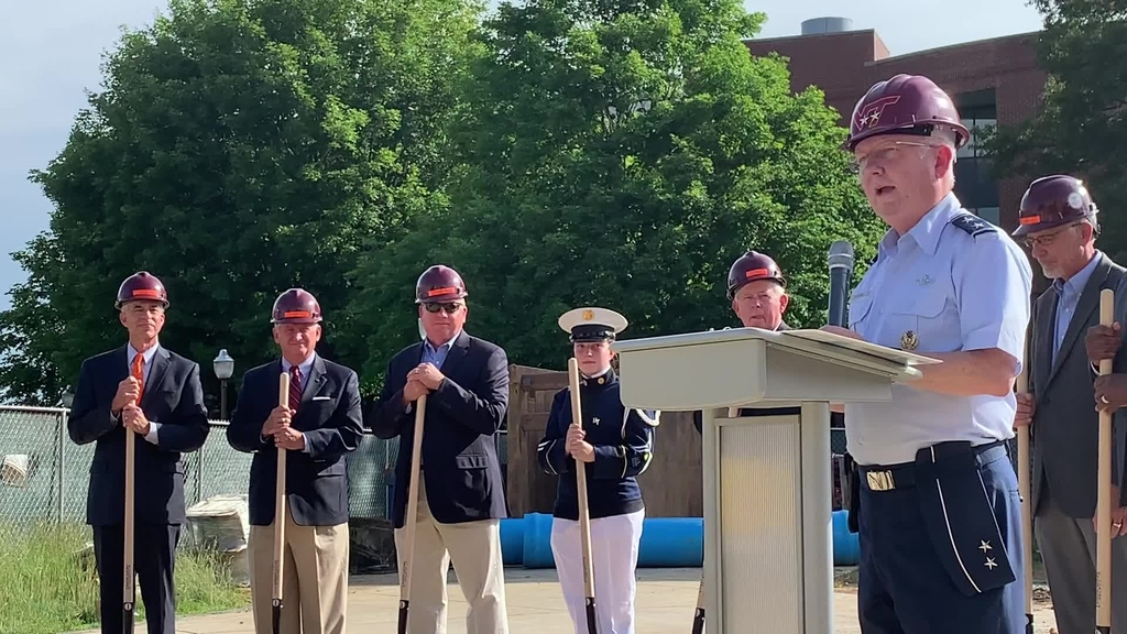 Virginia Tech Corps of Cadets breaks ground on the Corps Leadership and Military Science Building