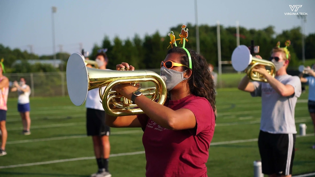 Marching Virginians find ways to safely perform during COVID