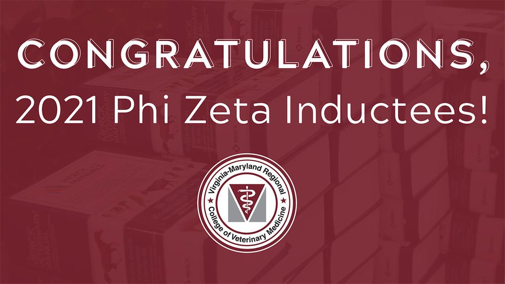Phi Zeta honor society induction of DVM candidates, 2021