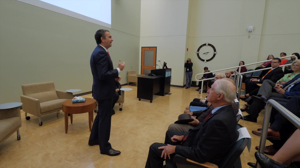 Virginia Gov. Ralph Northam visits VTC School of Medicine to talk to students about the opioid crisis