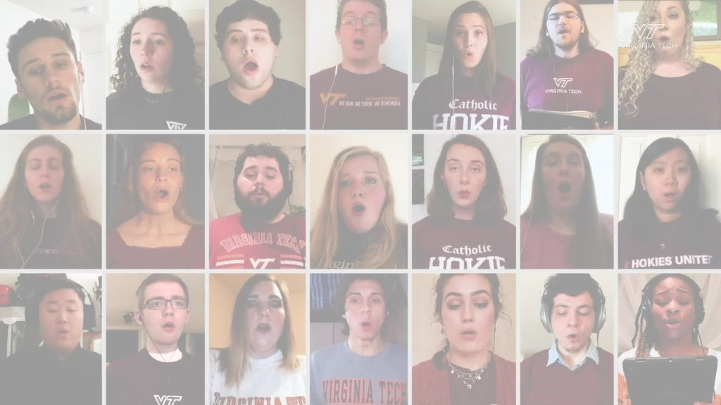 Virginia Tech Chamber Singers gather virtually to sing National Anthem