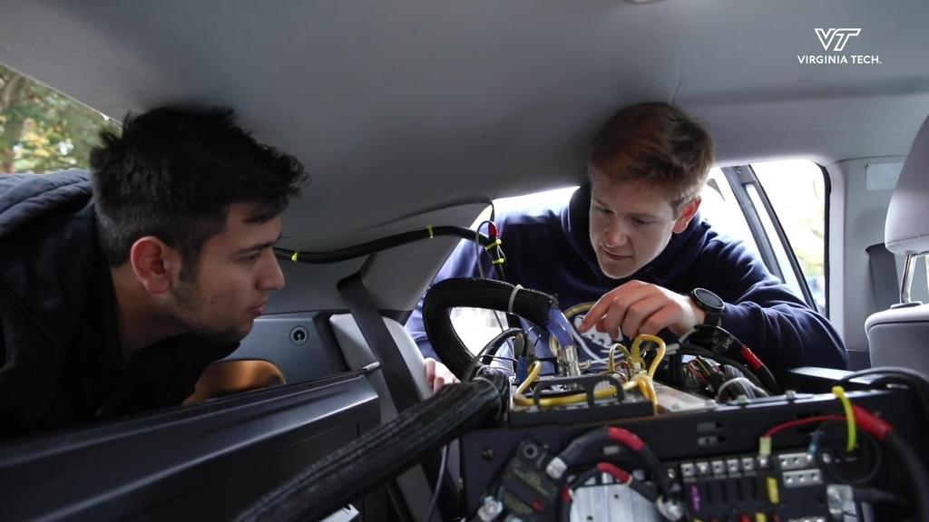 College of Engineering students at Virginia Tech share their autonomous technology at summit