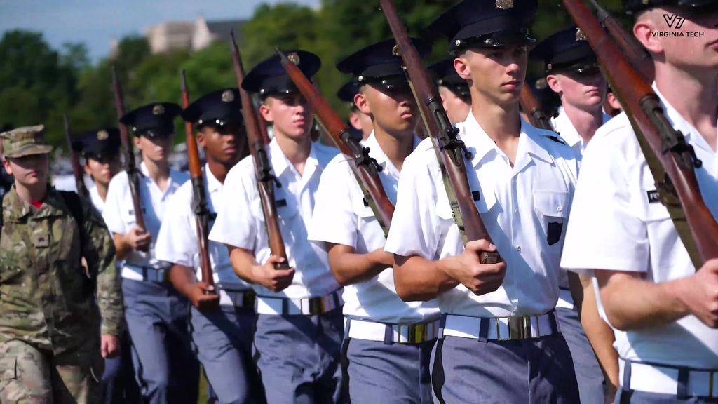 First-Year cadets take part in annual parade