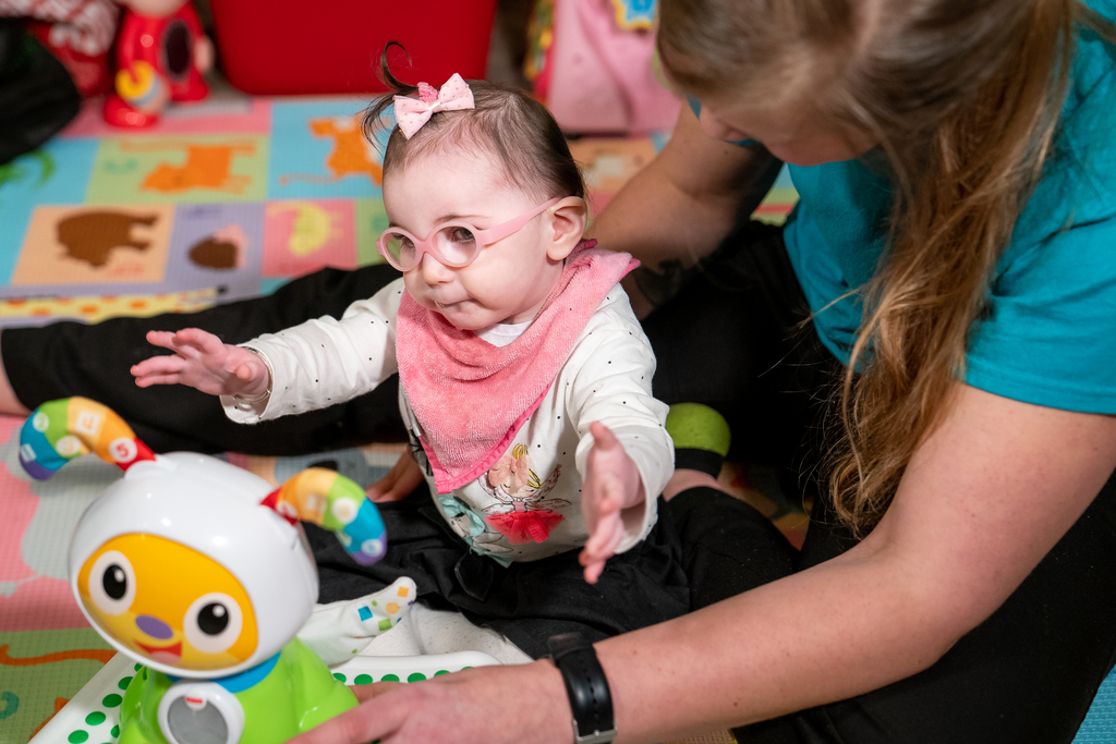Parents say baby with rare condition makes progress after intensive therapy at Fralin Biomedical Research Institute at Virginia Tech Carilion