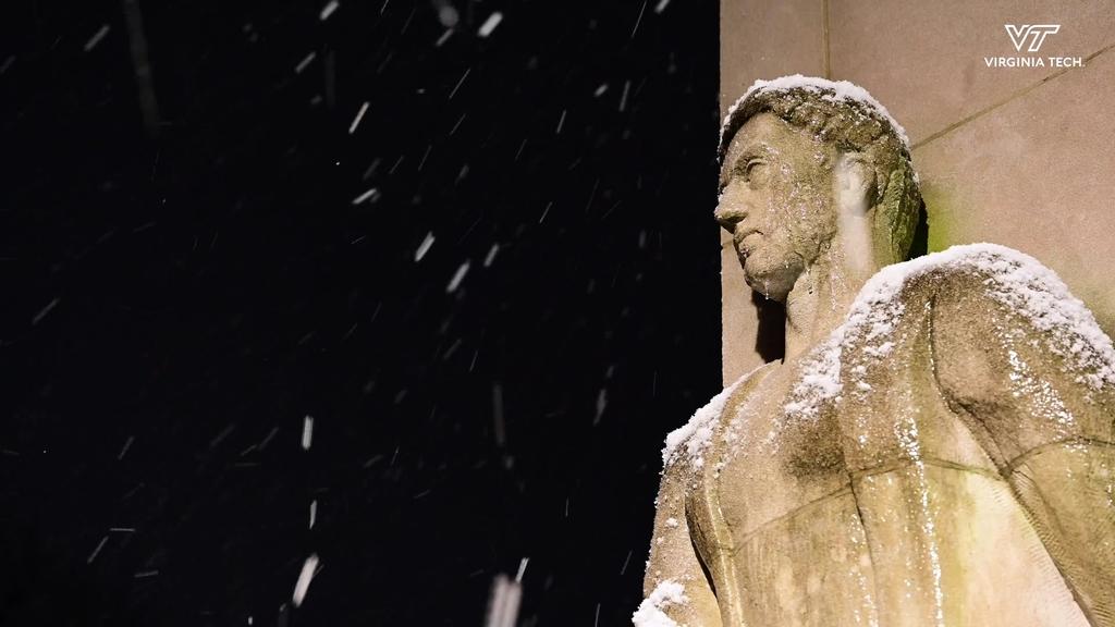 Snowy Night On Campus