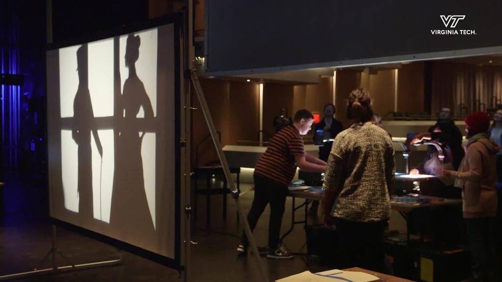 A shadow art workshop with Manual Cinema