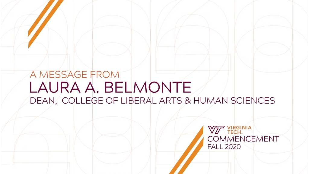 Commencement Message from Dean Laura Belmonte