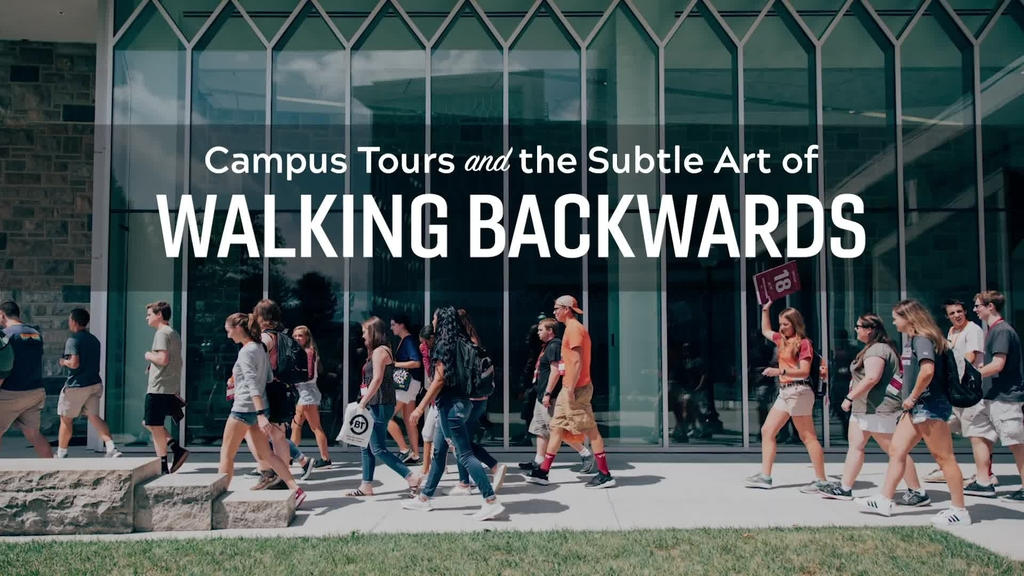 Walking Backwards with the Virginia Tech Orientation Team