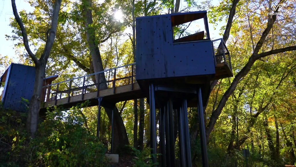 Architecture students design, build New River Train Observatory