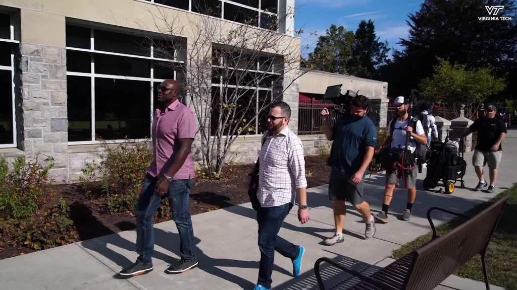 NFL Films comes to campus for documentary of Bruce Smith