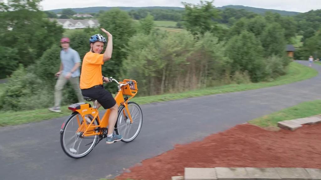 Roam bike share kickoff ceremony