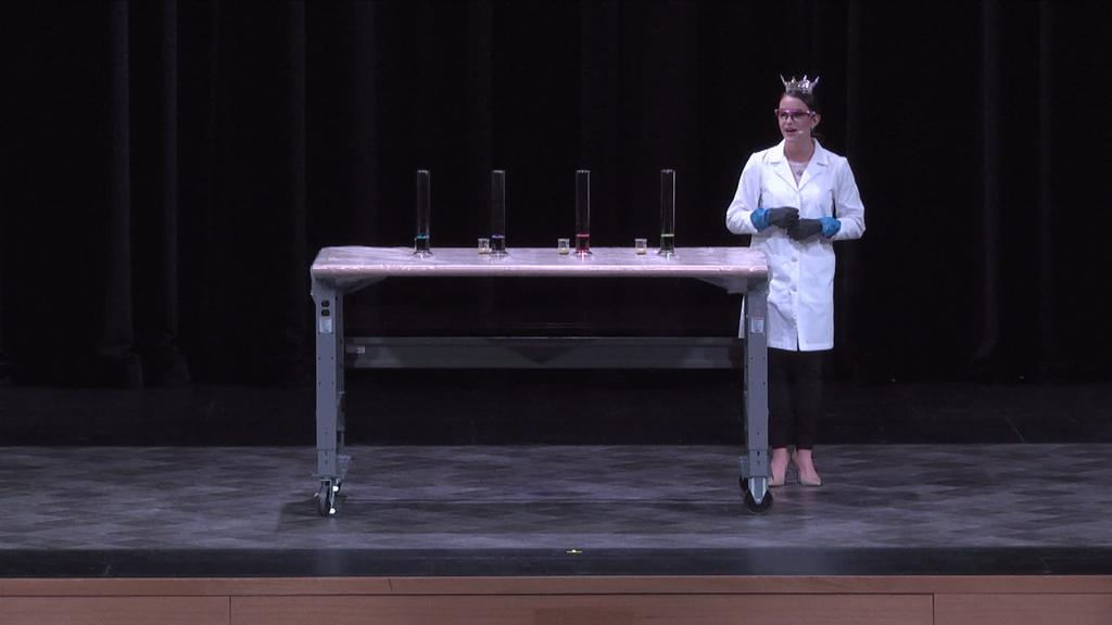 Miss Virginia's demonstration at Virginia Tech Science Festival
