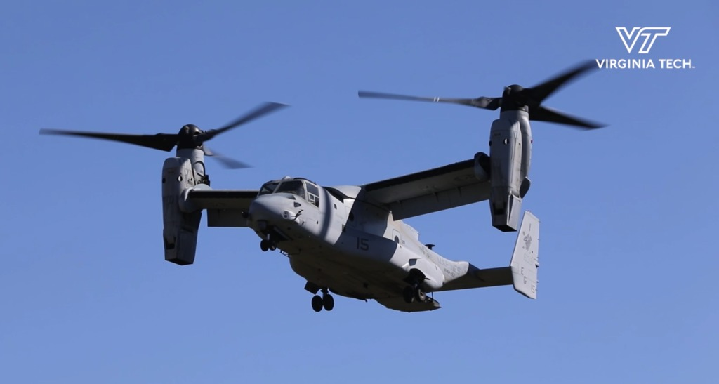 Homecoming game features flyover of four Marine Corps MV-22B Ospreys